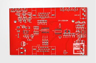 double sided board with red spray tin