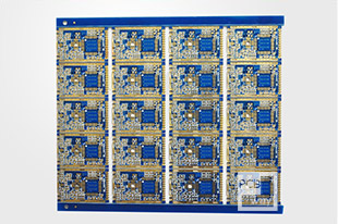 Double sided board blue oil immersion gold process semi hole